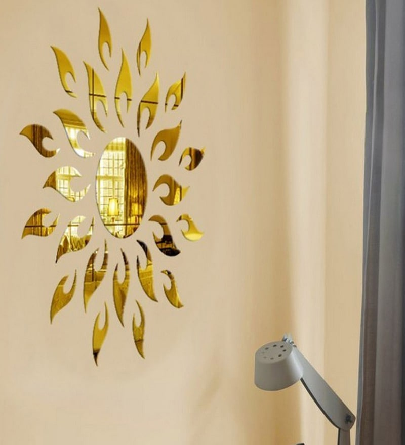 Acrylic Gold Sun 2 Mm Wall Decals by Sehaz Artworks