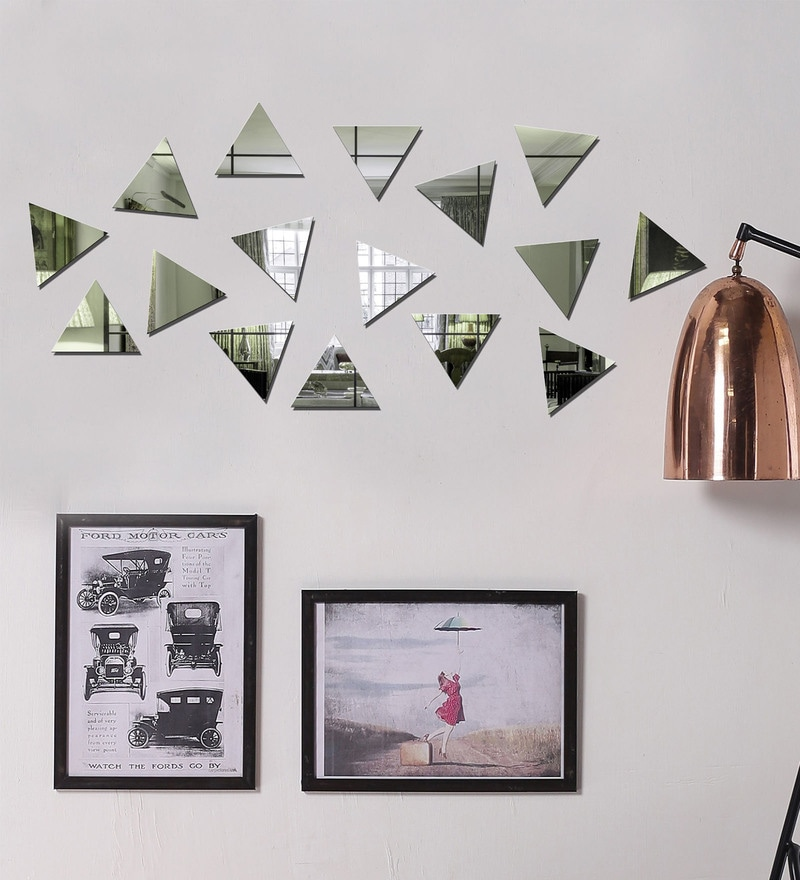 Acrylic Silver Pyramids Wall Decals by Sehaz Artworks