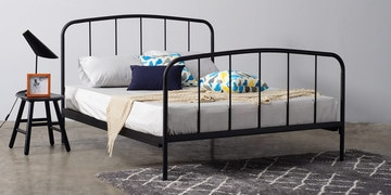 Adway Queen Size Bed In Black Colour