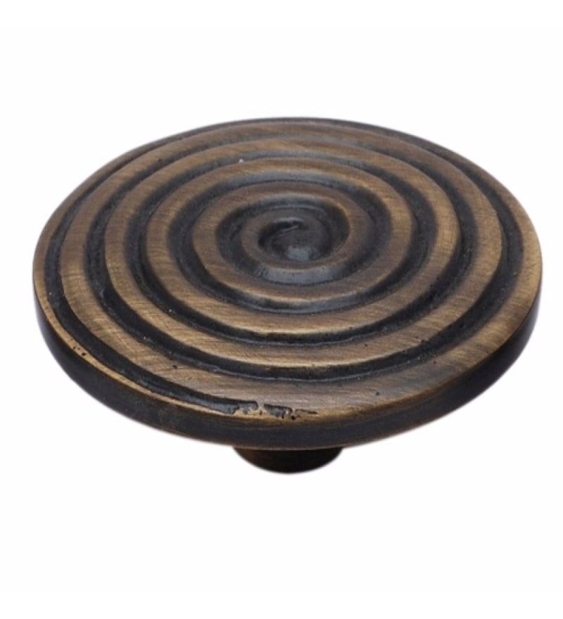 Adonai Hardware Cain Brass 1.8 Inch Cabinet Knob
