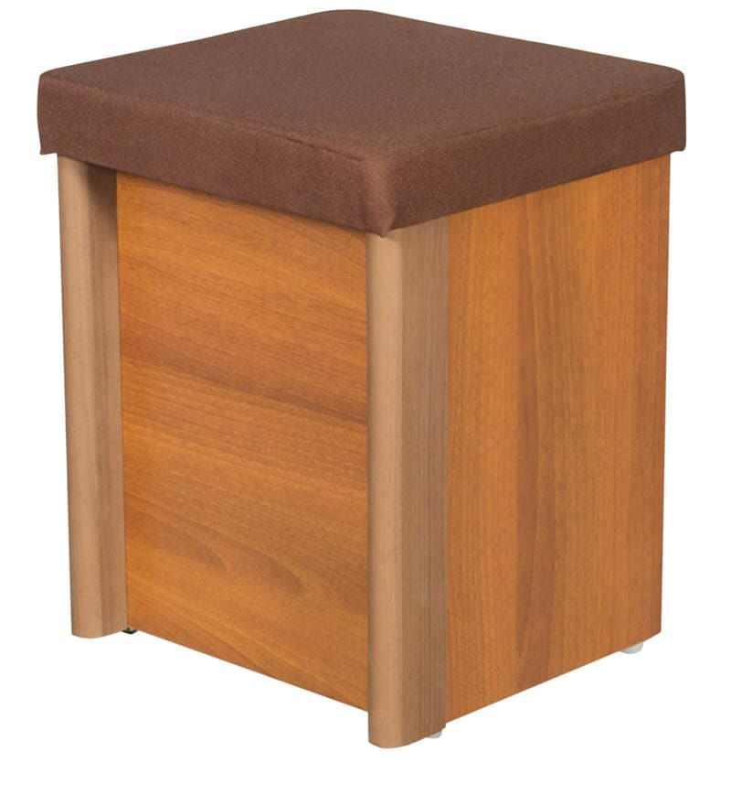 Buy Adriana Dressing Table With Stool In Walnut Finish By