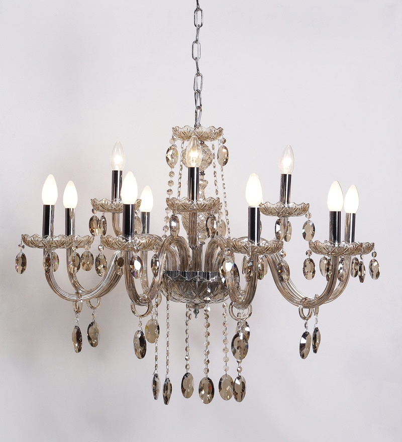 Buy Beige Glass Chandelier By Aesthetics Home Solution