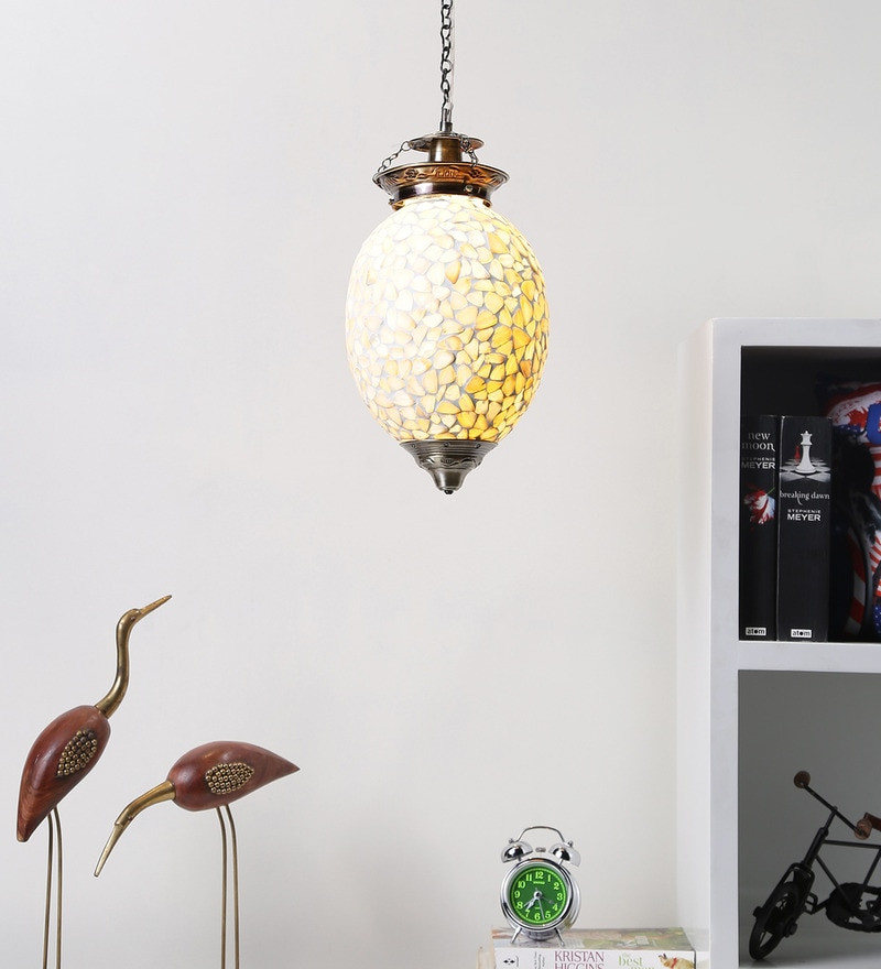 Brown Glass Hanging Light by Aesthetics Home Solution