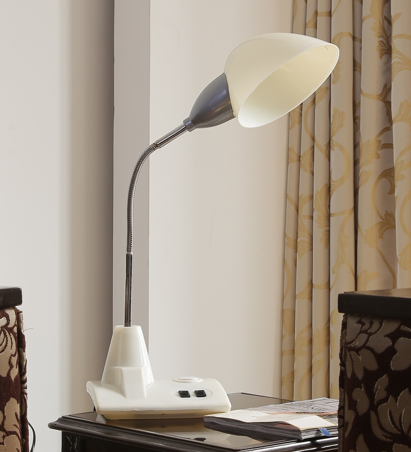 Buy Contemporary White Plastic Study Lamp By Aesthetics