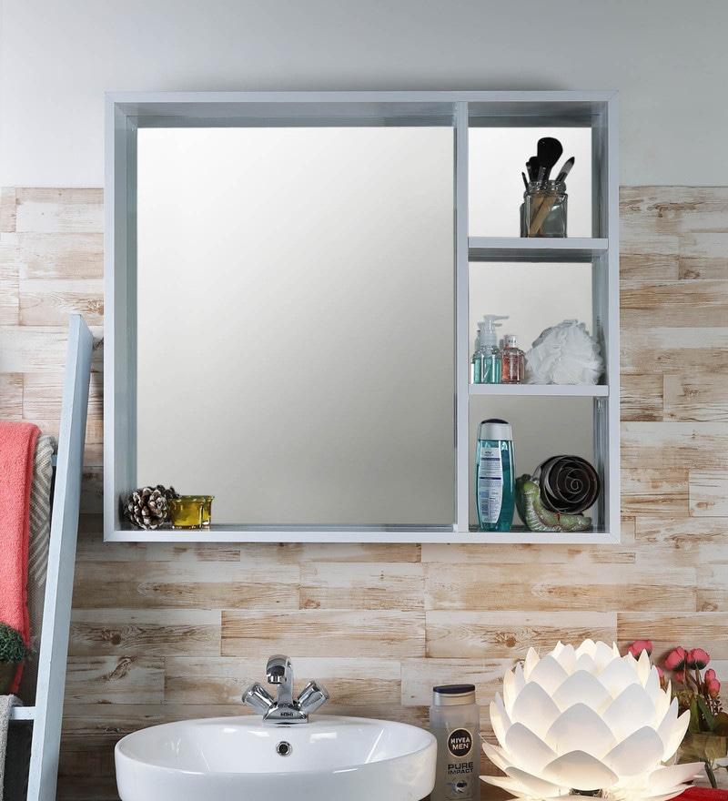 Buy White Aluminium 31 5 X 4 X 27 5 Inch Mirror Bathroom