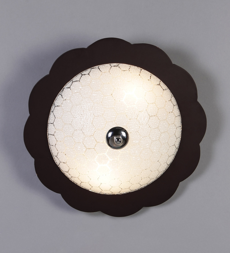 White Glass Flush Mounted Ceiling Light by Aesthetics Home Solution