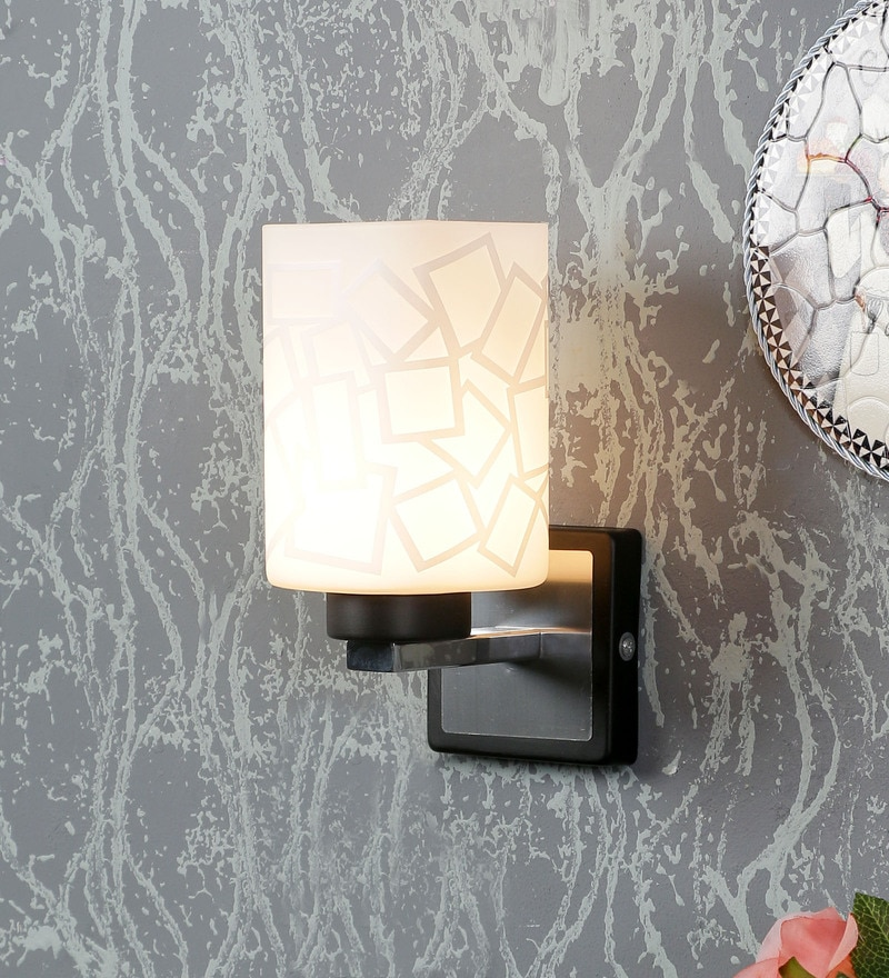 White Glass Wall Mounted Wall Light by Aesthetics Home Solution