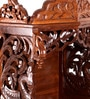 Brown Wooden Carving Temple by Zahab