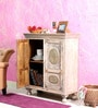 Paulini Cabinet in White Distress Finish by Bohemiana