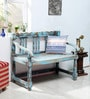 Ubu Bench in Blue Distress Finish by Bohemiana