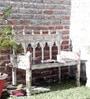 Ubu Bench in White Distress Finish by Bohemiana