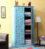 Phoenix Wardrobe in Blue Distress Finish by Bohemiana