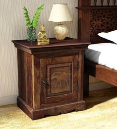 9971c9926 Airavana Solid Wood Right Door Bed Side Table in Provincial Teak Finish