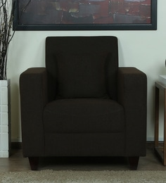 Alba One Seater Sofa In Chestnut Brown Colour ...