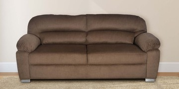 Alexander Three Seater Sofa In Brown Colour By @home