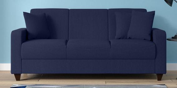 Alba Three Seater Sofa In Navy Blue Colour
