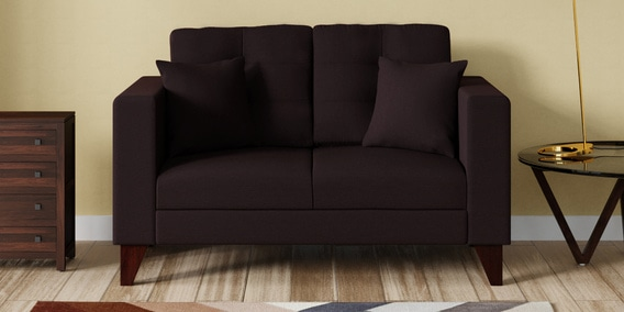 Alfredo Two Seater Sofa In Chestnut Brown Colour
