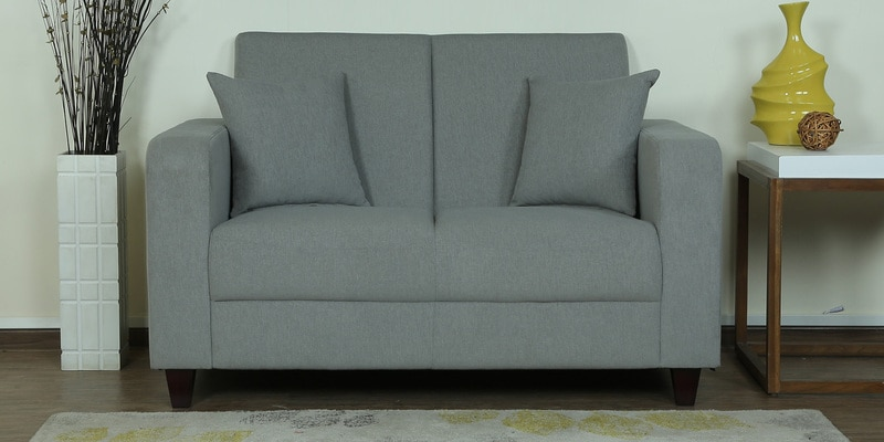 Alba Two Seater Sofa in Ash Grey Colour by CasaCraft