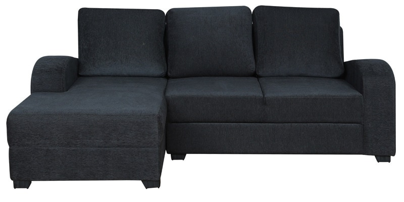 Buy Alex Rhs Sofa With Lounger In Dark Grey Colour By