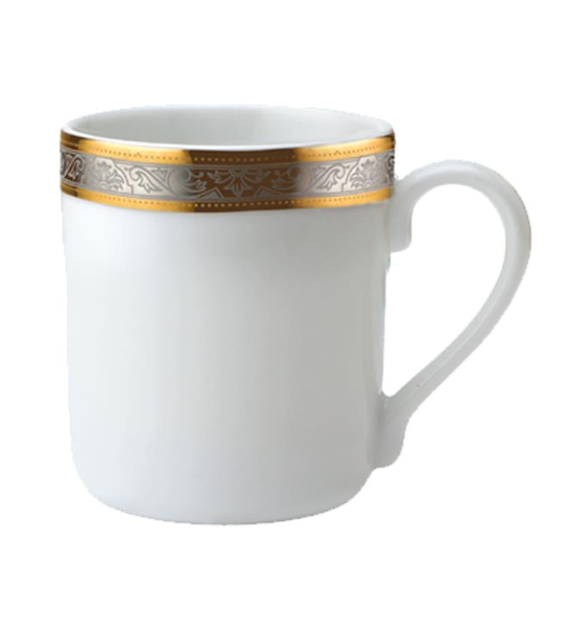 Alda Gold Porcelain 270 ML Mugs - Set of 2