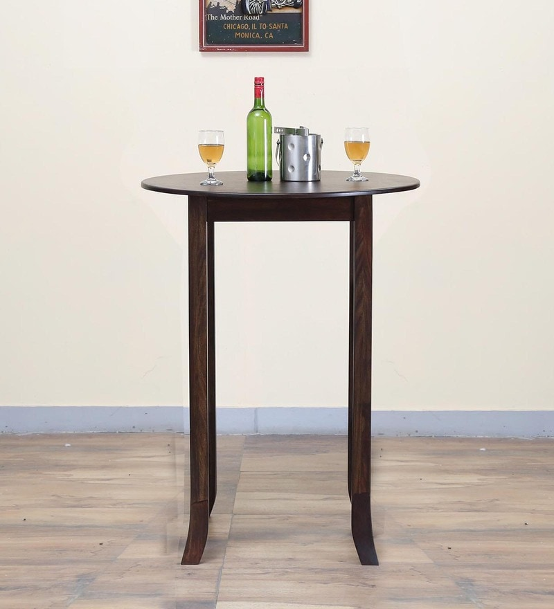 Alder Round High Dining Table in Warm Chestnut Finish by Woodsworth