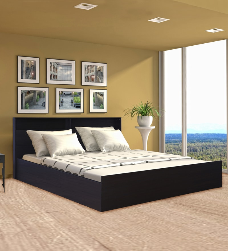 Pleasing Buy Weston King Size Bed In Midnight Fine Oak Finish By Home Interior And Landscaping Ologienasavecom