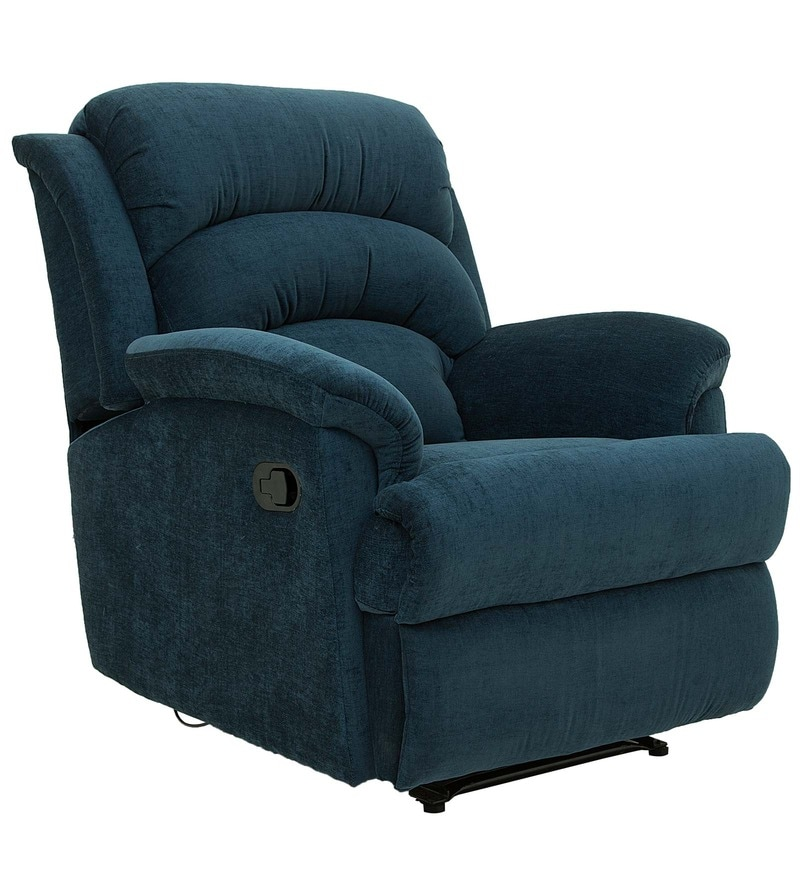 Buy Alexandria One Seater Recliner In Teal Colour By