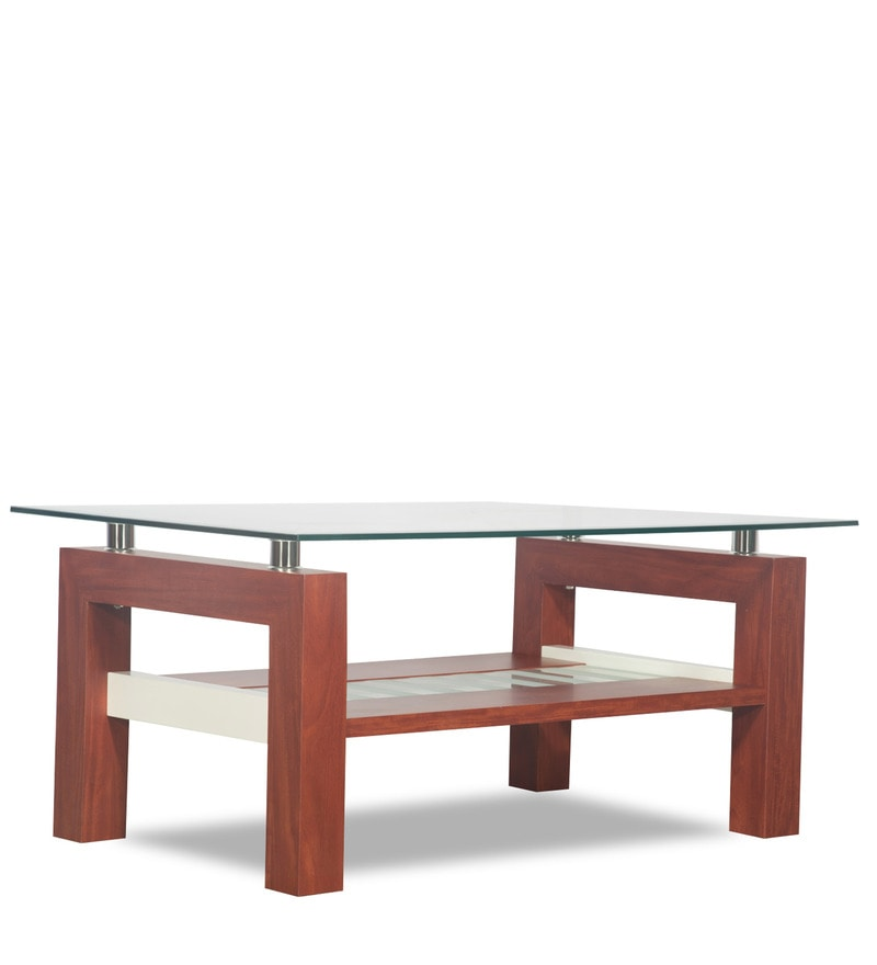 Buy Alice Coffee Table In Cherry Finish By Godrej Interio
