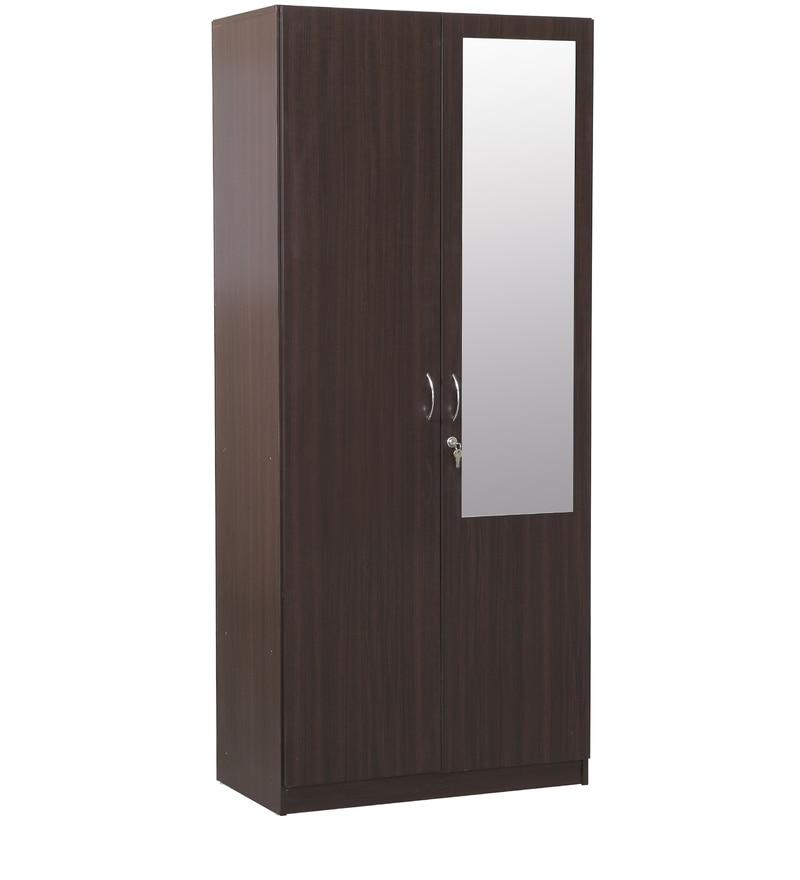 Buy Allen Two Door Wardrobe With Mirror In Walnut Finish