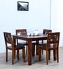 Alder Four Seater Dining Set in Provincial Teak Finish by Woodsworth