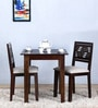 Alder Solid Wood Two Seater Cushioned Dining Set in Warm Chestnut Finish by Woodsworth