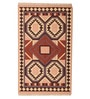 Carpet Overseas Multicolour Cotton 37 x 60 Inch Kilim Design Dhurrie