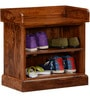 Logan Shoe Rack in Warm Walnut Finish by Woodsworth