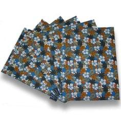 Ambbi Collections Floral Orange Cotton Placemats - Set Of 6