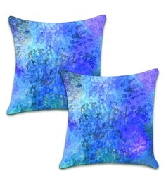 Ambbi Collections Multicolour Satin 16 X 16 Inch Digitally Printed Cushion Cover - Set Of 2