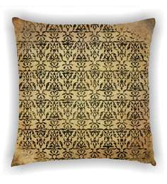 Ambbi Collections Multicolour Satin 16 X 16 Inch Digitally Printed Distorted Traditional Design Cushion Cover - 1606173
