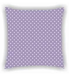 Ambbi Collections Purple And White Satin 16 X 16 Inch Digitally Printed Polka Dots Cushion Cover
