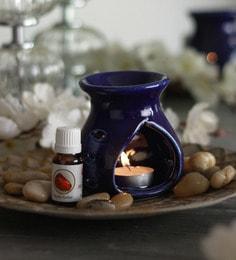 Amber Mystic Aroma Oil With Ceramic Diffuser Pot & Tea Light Candle