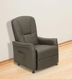 Amigo Genuine Leather One Seater Recliner in Brown Colour & Recliner Sofas - Buy Recliners Online in India - Exclusive Designs ... islam-shia.org