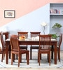 Tremlett Six Seater Dining Set in Honey Oak Finish by Amberville