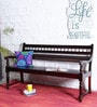 Maurya Handcrafted Bench in Passion Mahogany Finish by Mudramark