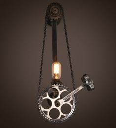Anemos Black And Silver Metal Wall Light