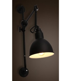 Anemos Black Metal Wall Light
