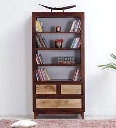 Anitz Book Shelf In Dual Tone Finish By Woodsworth