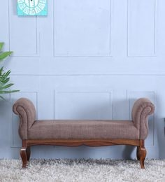 Anne Settee In Provincial Teak Finish By Amberville
