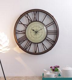 Antique Brass Vintage Wall Clock - 1697147