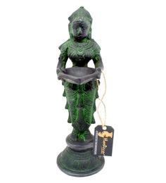 Antique Finish Brass Deep Laxmi Statue Diya