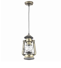 Antique Gold Mild Steel Hanging Light - 1615594