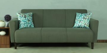 Angela Three Seater Sofa In Green Colour