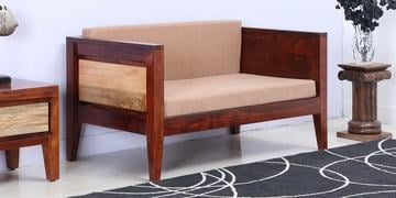 Anitz Two Seater Sofa In Dual Tone Finish